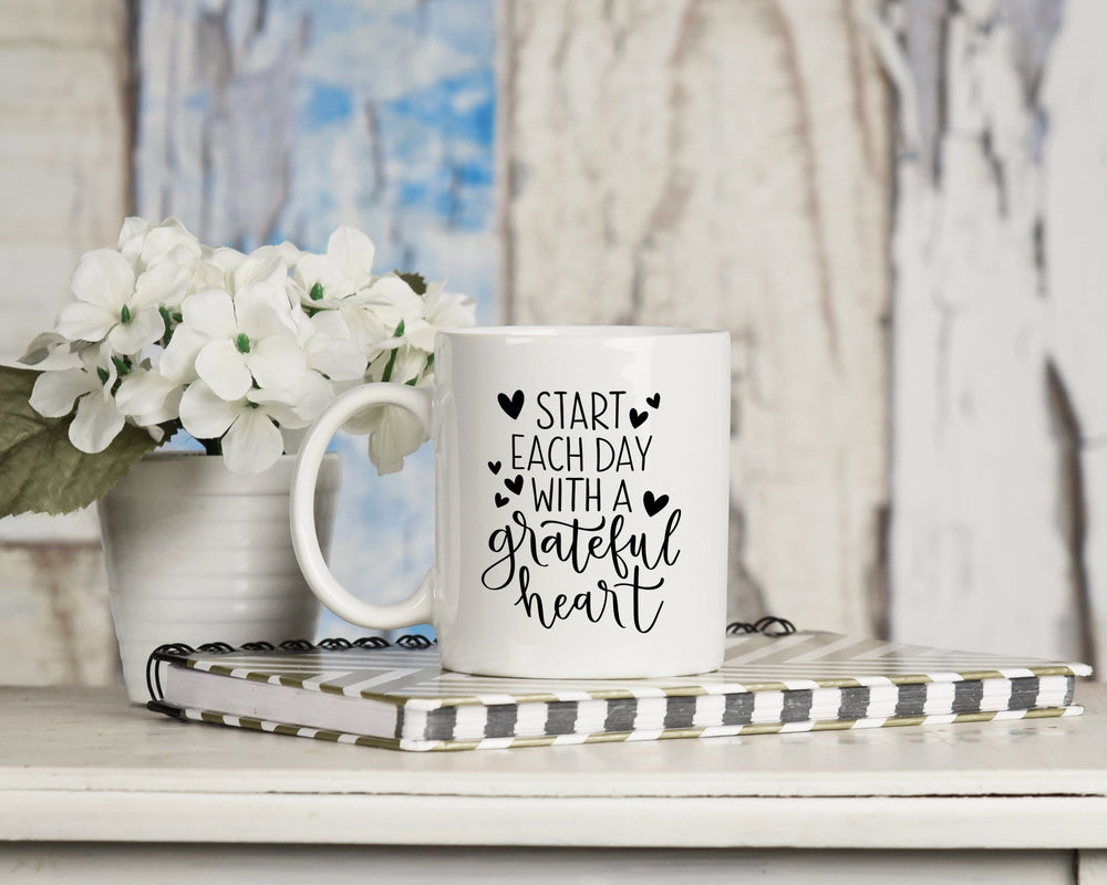 Start Each Day With A Grateful Heart Mug 11oz