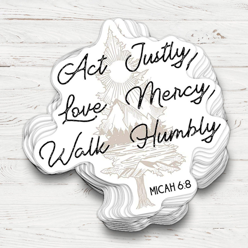 Act Justly Walk Humbly Sticker