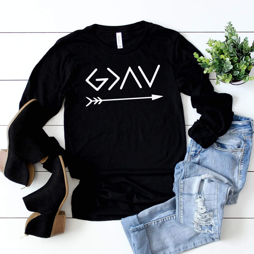 Bella Canvas 3501 - God Is Greater Than The Highs And Lows Long Sleeve Tee