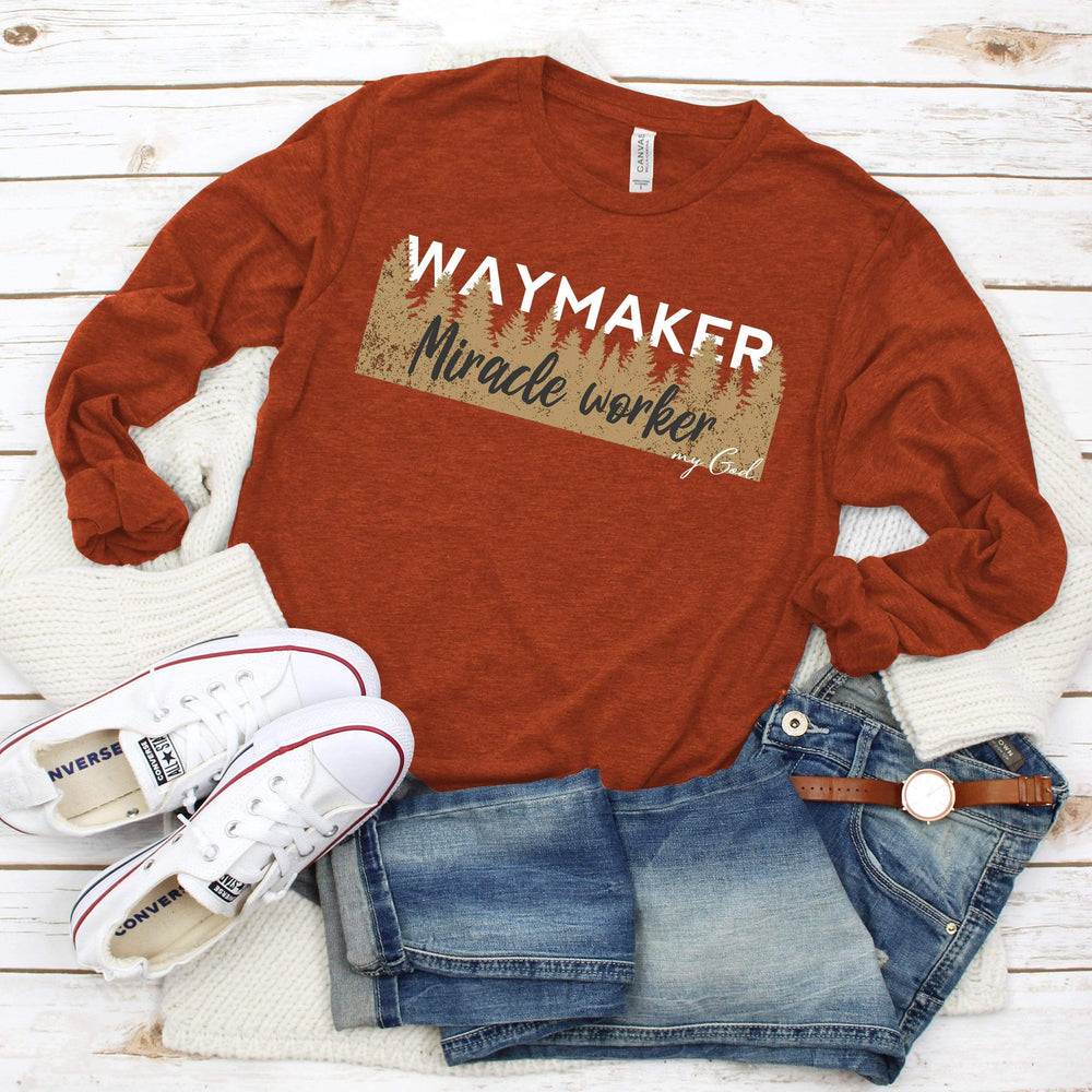Bella Canvas 3501 - Way Maker, Miracle Worker Long Sleeve Tee