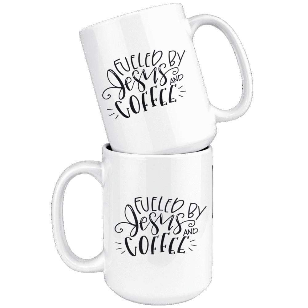 Drinkware - Fueled By Jesus And Coffee Mug 15oz