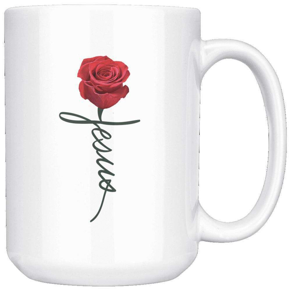 Drinkware - Jesus Rose Mug 15oz