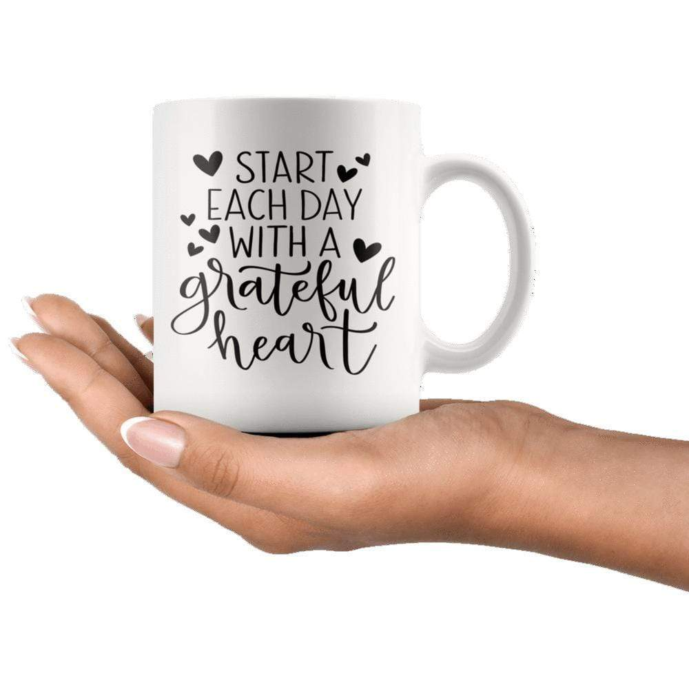 Drinkware - Start Each Day With A Grateful Heart Mug 11oz