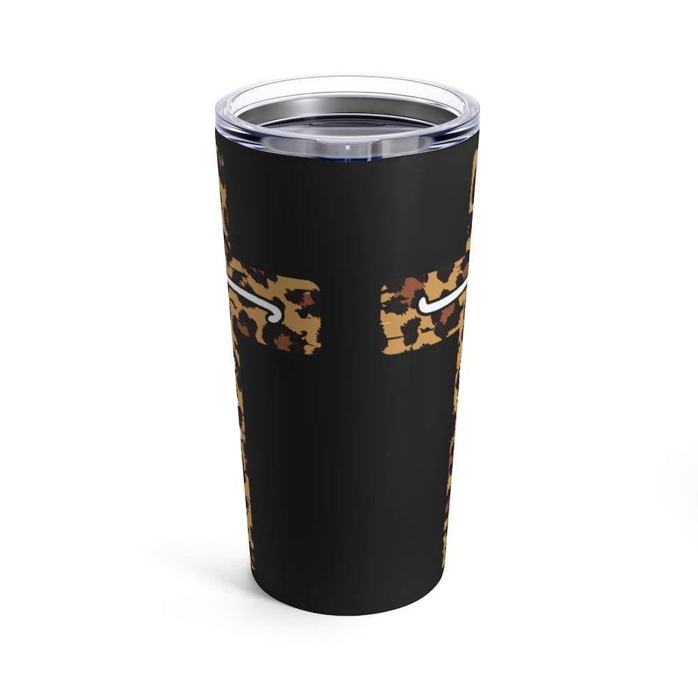 Leopard Faith Cross Tumbler 20oz