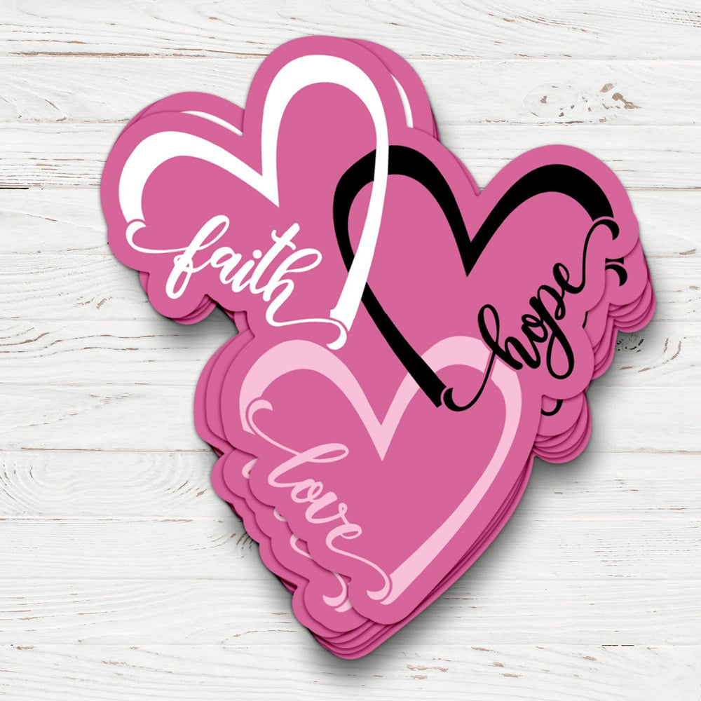 Faith Hope Love Hearts Sticker