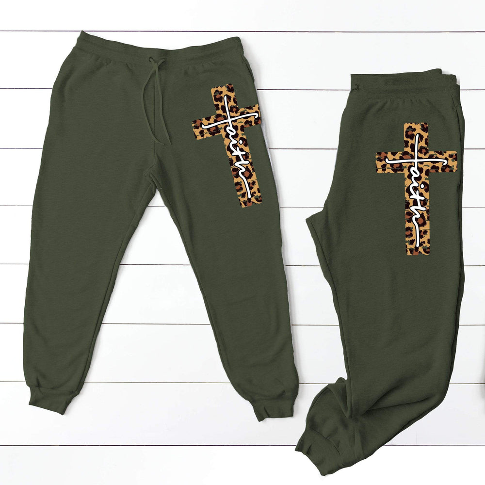 Leopard Faith Joggers