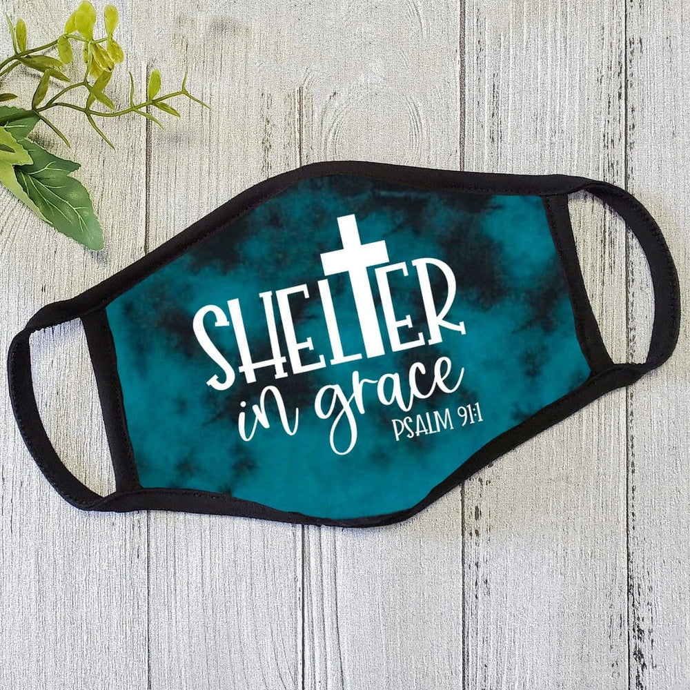 YOUTH - Shelter in Grace Teal Tie Dye Mask