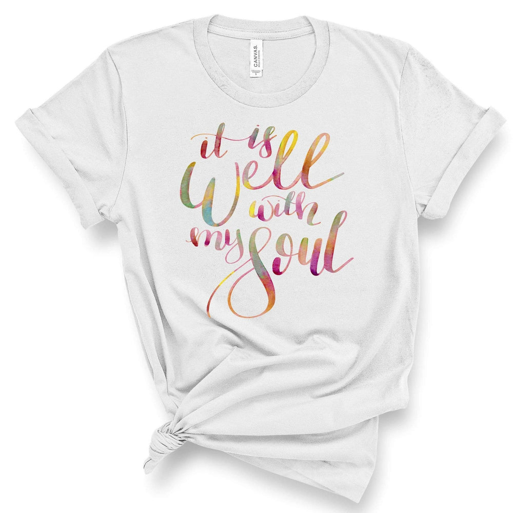 T-Shirt - It Is Well With My Soul Watercolor Tee
