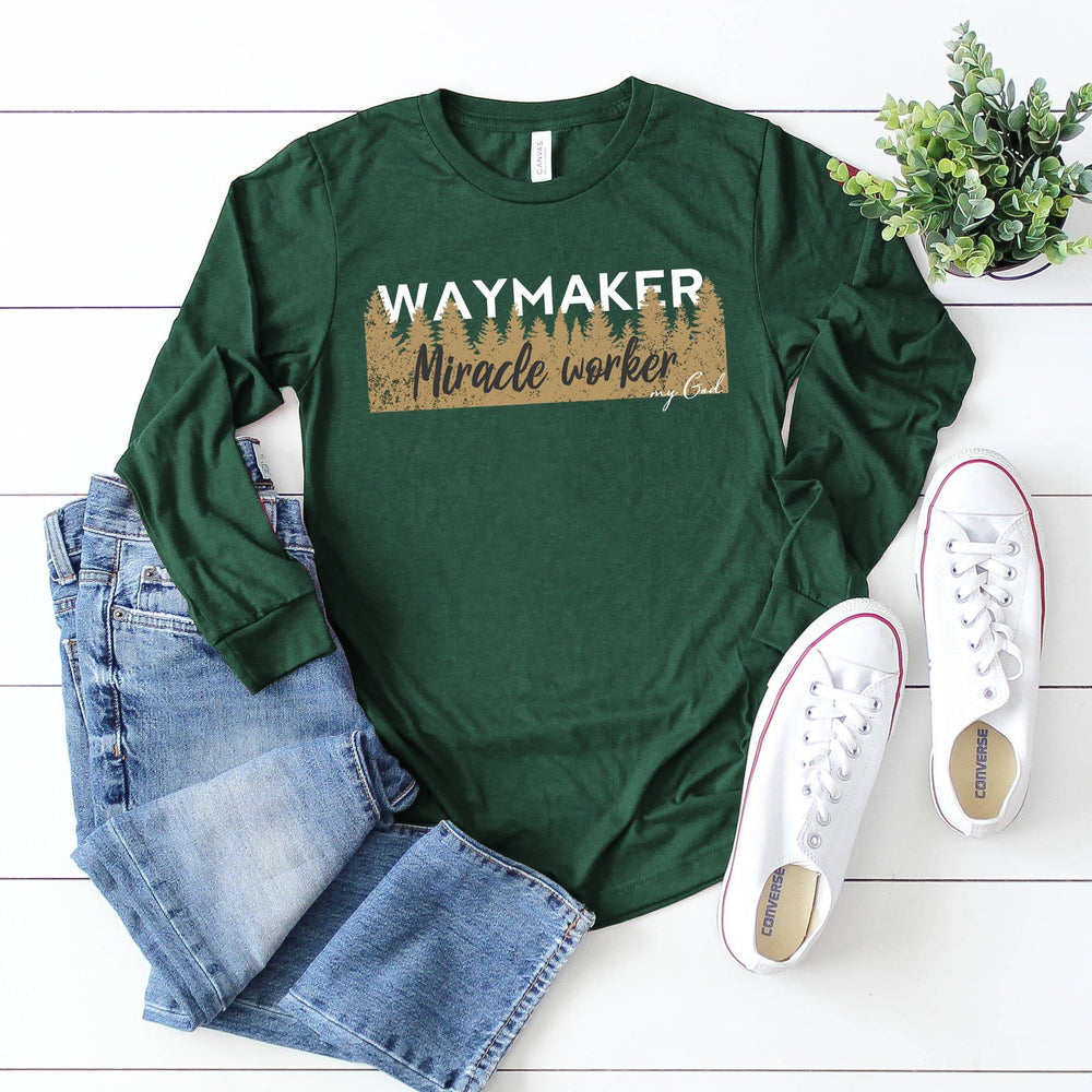 Way Maker, Miracle Worker Long Sleeve Tee