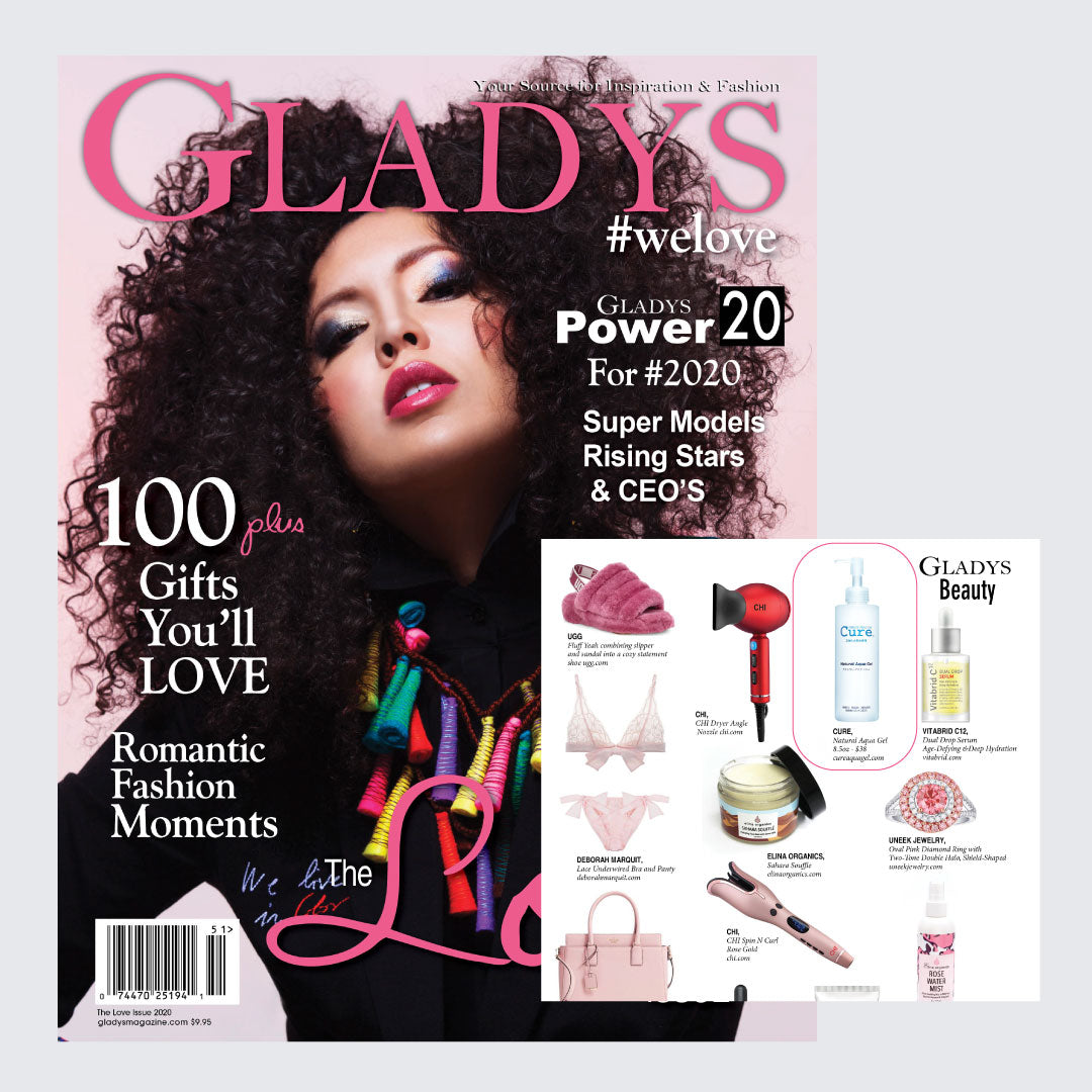 Cure Natural Aqua Gel was featured in GLADYS magazine