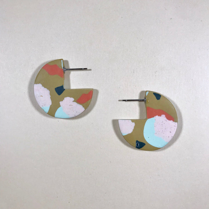 Sara Three-quarter Moon Earrings
