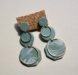 Lori Ann Marble Drop Earrings