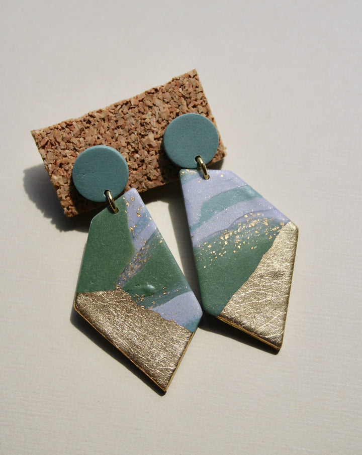 Lori Ann Marble Angle Earrings