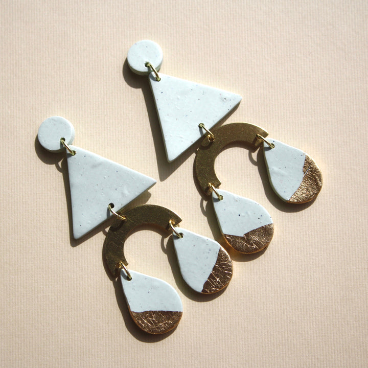 Bridgett Triangle Drop Earrings