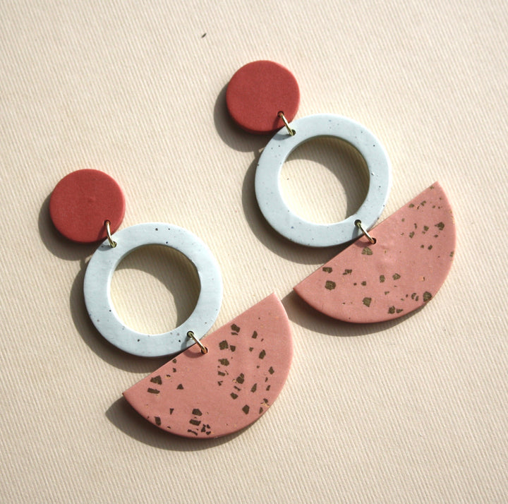 Bridgett Circle Drop Earrings