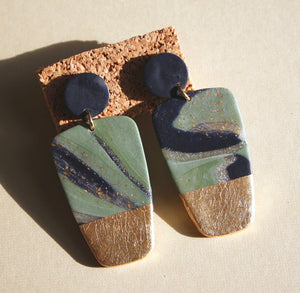 Lori Ann Marble Block Earrings