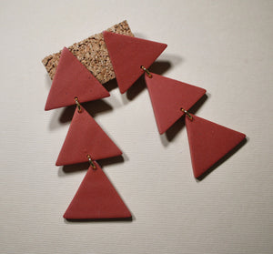Alexis Large Triangle Drop Earrings