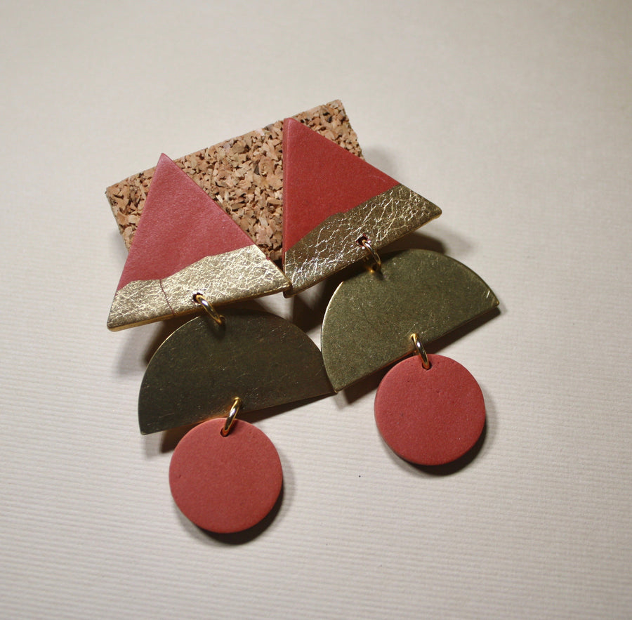 Alexis Triangle Dahlia Earrings