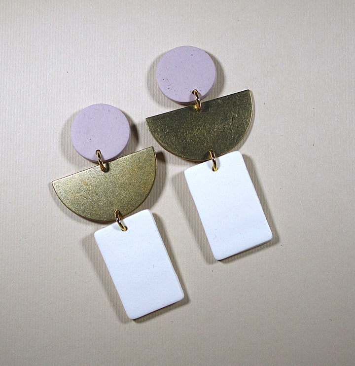Ruth Half Moon Earrings
