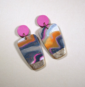 Emily Small Block Earrings