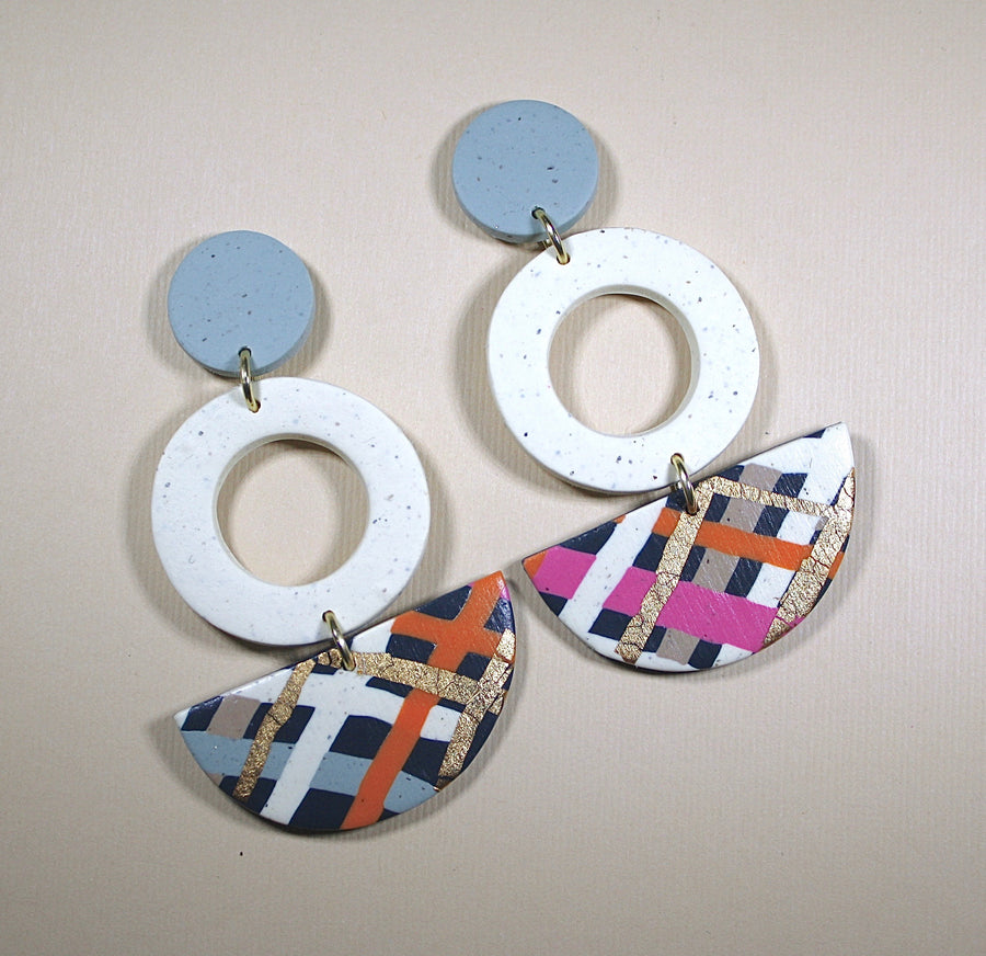 Emily Circle Drop Earrings