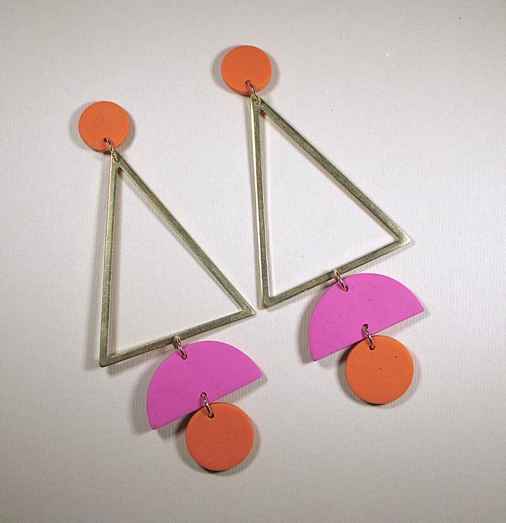 Emily Tall Triangle Earrings