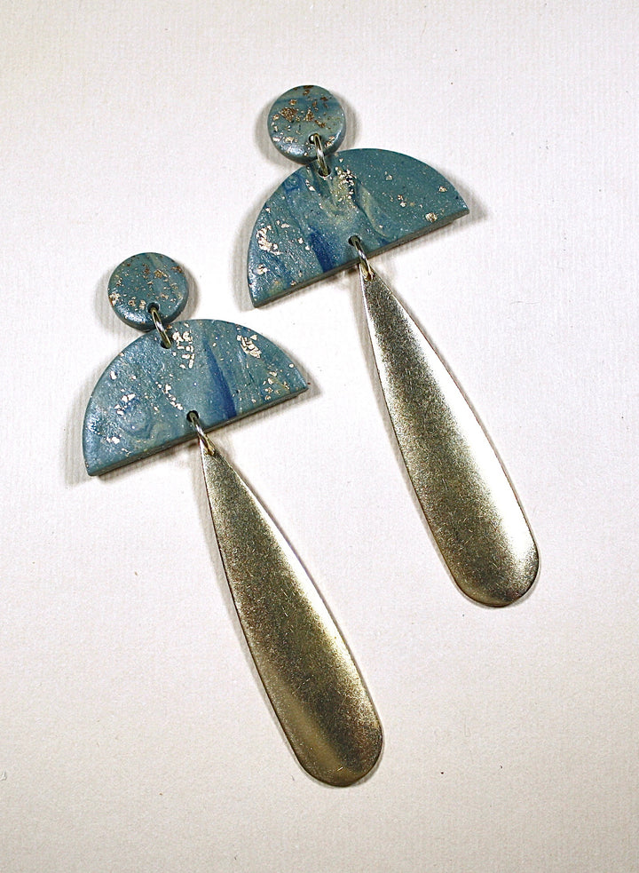 Georgia Crescent Drop Earrings