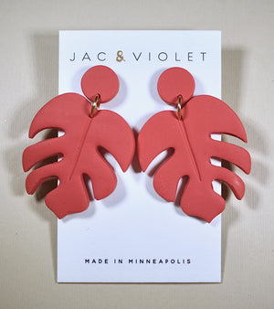 Lori Ann II Monstera Earrings