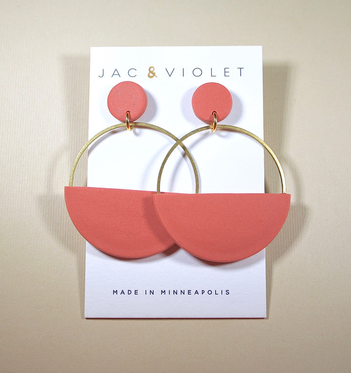 Audrey Half-Moon Hoops