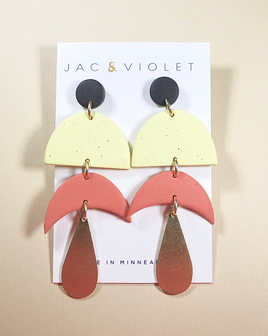 Audrey Moon Drop Earrings