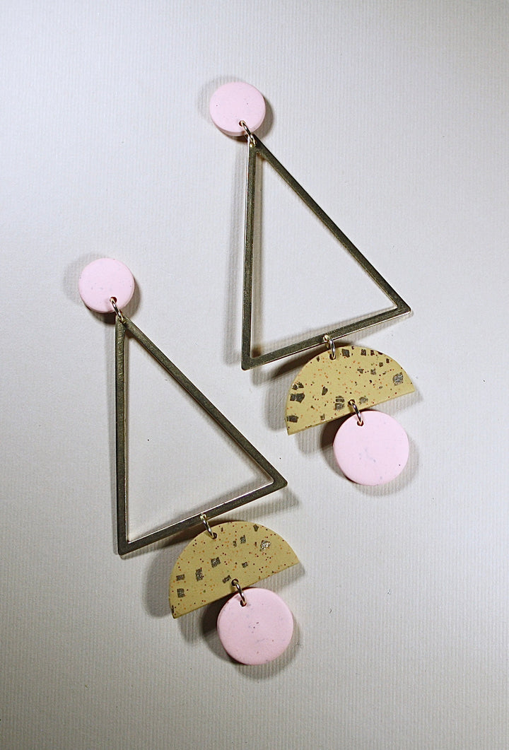 Frida Tall Triangle Earrings
