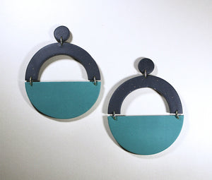 Frida Half Moon Allium Earrings