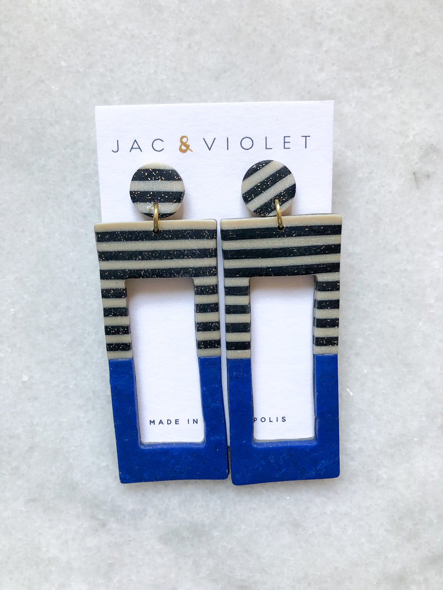 Michelle Bold Rectangle Earrings