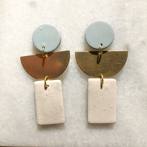 Ashtyn Half Moon Earrings