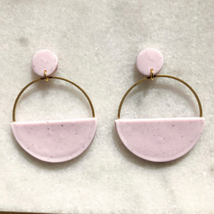 Ashtyn Half Moon Hoops