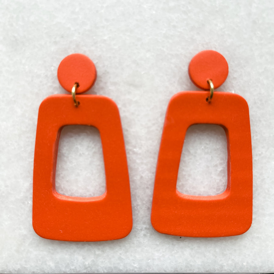 Brené 70's Block Earrings