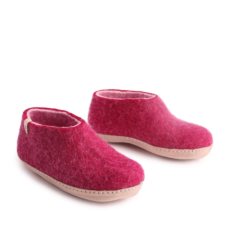 Kids Felted Wool Slippers