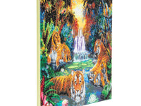 """Tigers at the Jungle Pool"" Framed Crystal Art Kit, 40 x 50cm"