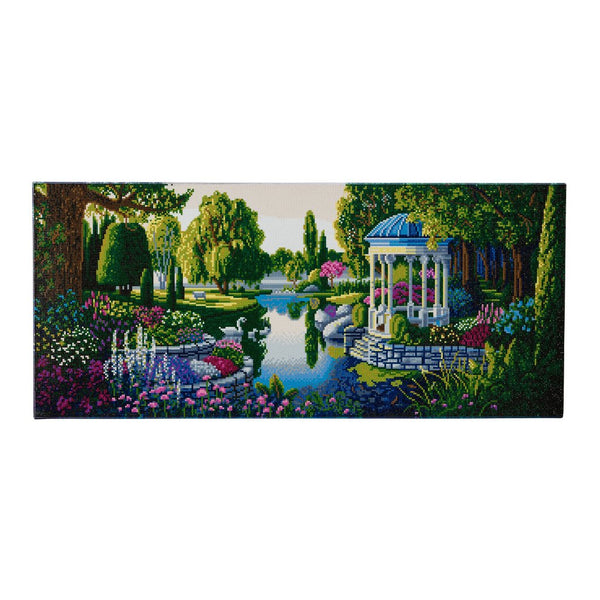 """The Secret Garden"" Framed Crystal Art Kit, 40 x 90cm."