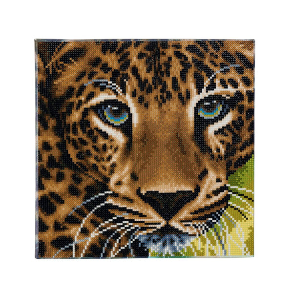 """Leopard "" Framed Crystal Art Kit 30 x 30cm (Medium)"