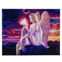 """Angel Dusk"" Framed LED Crystal Art Kit - 40 x 50"