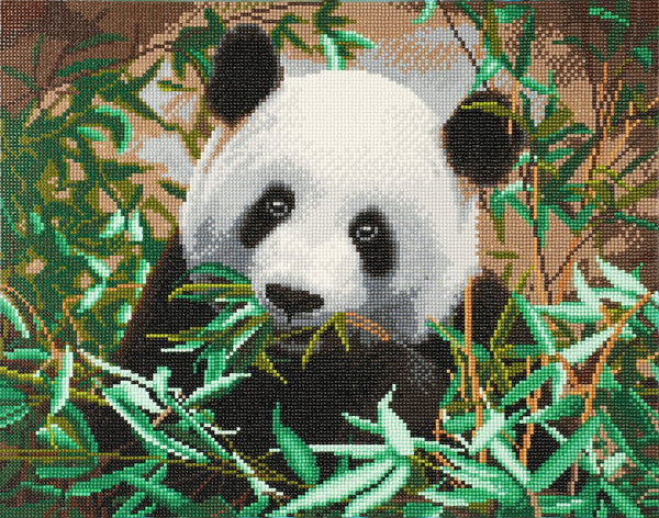 """Panda"" Framed Crystal Art Kit, 40 x 50cm"