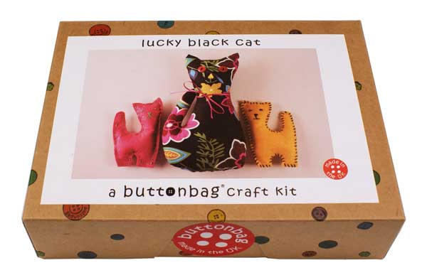 Buttonbag Lucky Black Cat