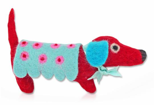 Monsieur Saucisson Dog Brooch Needle Felting Kit