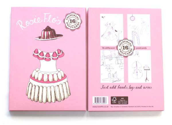 Rosie Flo's Postcard Colouring Book