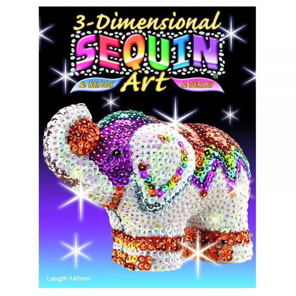3D Sequin Art Elephant