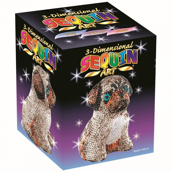 3D Sequin Art Pug
