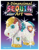 3D Sequin Art Pony