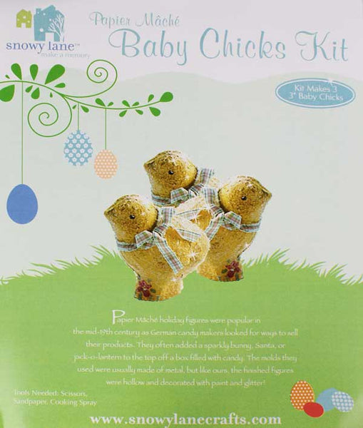Snowy Lane Paper Mache Chicks Kit