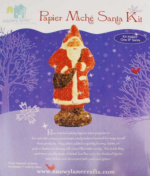 Snowy Lane Paper Mache Santa Claus Kit